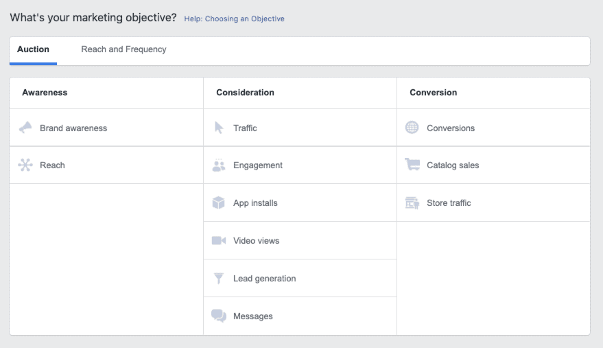 facebook campaign types - dark post
