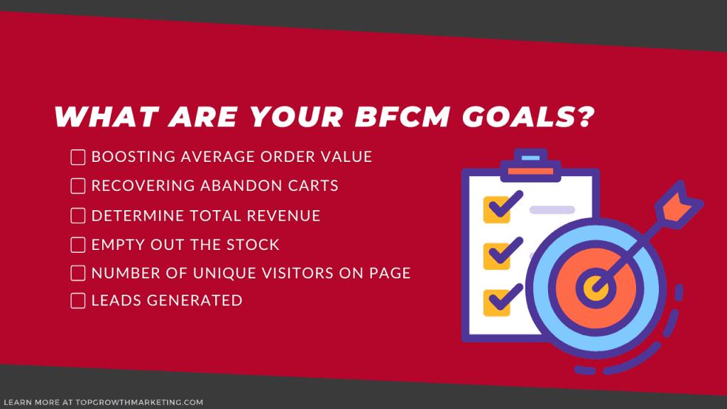 bfcm goals checklist