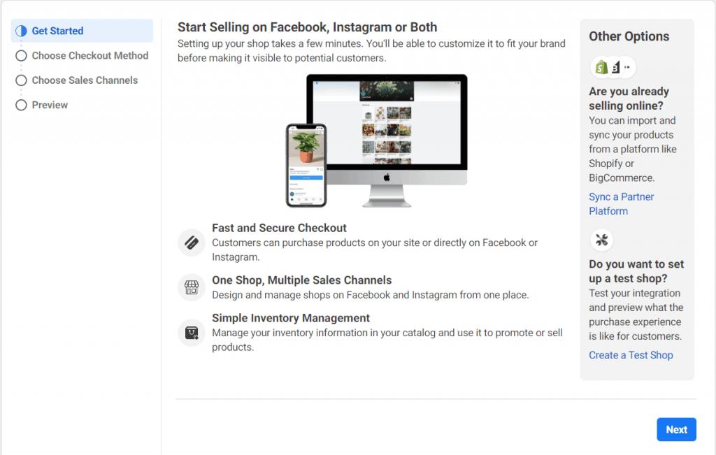 create facebook shop