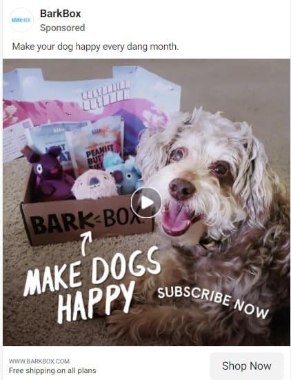 Bark Box subscription marketing example
