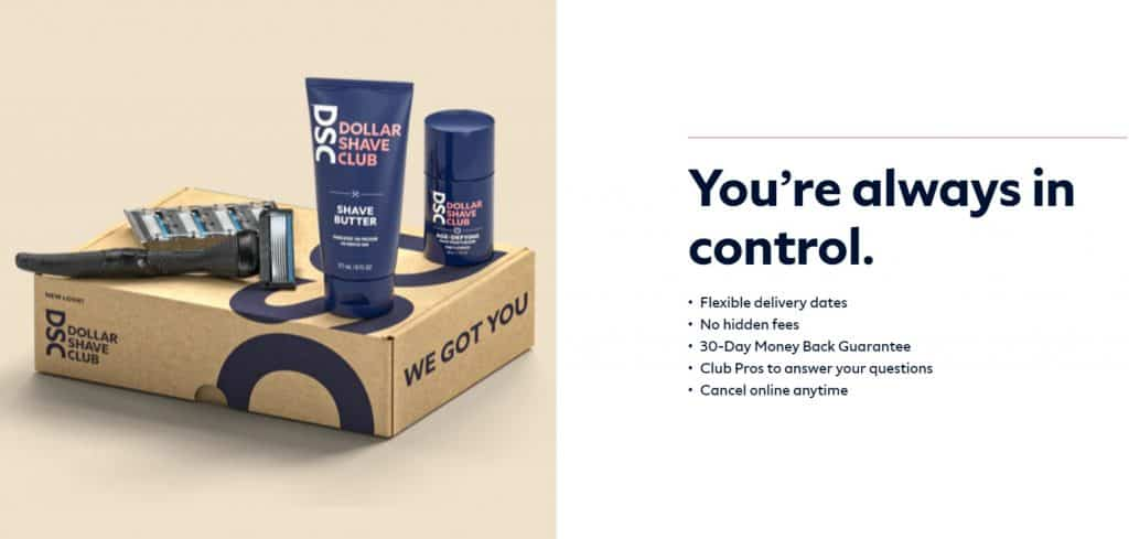 Dollar shave club subscription example