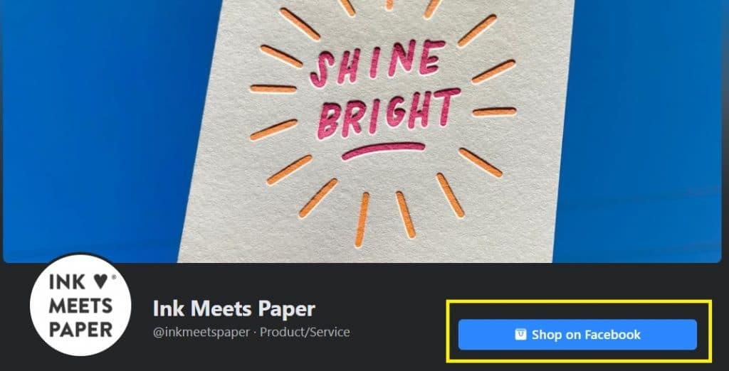 ink meets paper facebook shop checkout