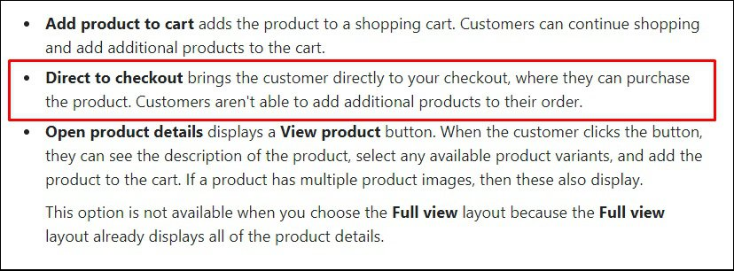 shopify tips for direct checkout